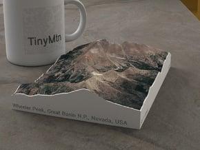 Wheeler Peak, Nevada, USA, 1:50000 in Natural Full Color Sandstone