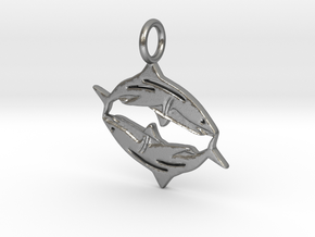Pisces Shark in Natural Silver