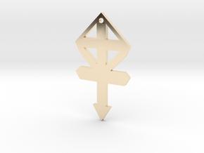 54mm gmtrx f110 cross symbol 1 in 14k Gold Plated Brass