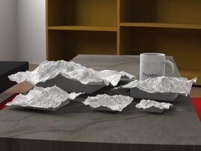 12''/30cm Mt. Blanc, France/Italy in White Natural Versatile Plastic