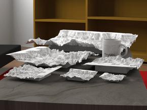 12'' Grand Canyon Terrain Model, Arizona, USA in White Natural Versatile Plastic