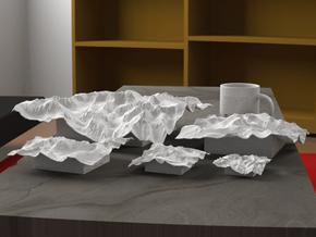 12'' Mt. Whitney, California, USA in White Natural Versatile Plastic