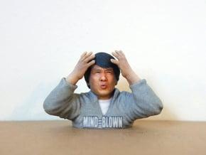 Jackie Chan Mind Blown meme 3D print. in Full Color Sandstone
