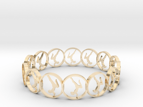 yoga ring in 14k Gold Plated Brass