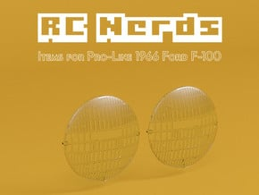 RCN202 Light Lenses for Ford F100  in Smooth Fine Detail Plastic
