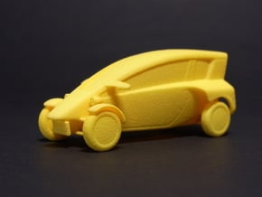 1:43 Fp-commuter in Yellow Processed Versatile Plastic