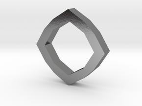 f110 grid octagon ring 1 gmtrx in Polished Silver