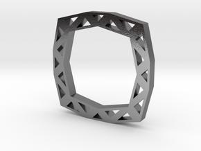 f110 grid ring gmtrx in Polished Silver