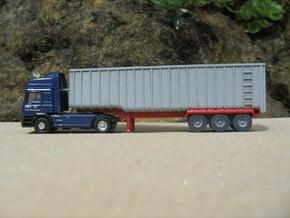 N scale 1/148 Fruehauf Bulk Grain Trailer 40' in Smooth Fine Detail Plastic