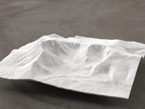 6'' Mt. Katahdin, Maine, USA, WSF in White Natural Versatile Plastic