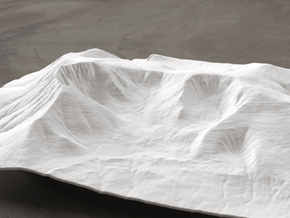8'' Mt. Katahdin, Maine, USA, WSF in White Natural Versatile Plastic