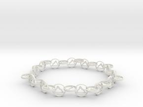 yoga jewelry bracelet - downward facing dog  in White Natural Versatile Plastic