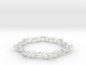 Yoga jewelry - downward facing dog  in White Natural Versatile Plastic