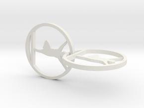 yoga jewelry - yoga earring in White Natural Versatile Plastic
