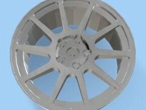 Mitsubishi Evo VI Rim 5 Hole for Tamiya 1/24 in White Natural Versatile Plastic