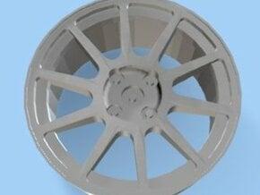 Mitsubishi Evo VI Rim 4 Hole for Tamiya 1/24 in White Natural Versatile Plastic