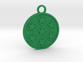 Seven of Pentacles in Green Processed Versatile Plastic