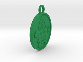 Queen of Pentacles in Green Processed Versatile Plastic