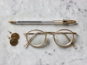Wire Cap - upgrade your Bic Pen in Natural Brass