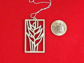 Heliconia Pendant in White Processed Versatile Plastic