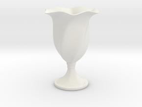 Goblet in White Natural Versatile Plastic