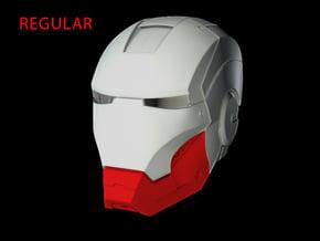 Iron Man Helmet Jaw (Regular) Part 3 of 3 in White Natural Versatile Plastic