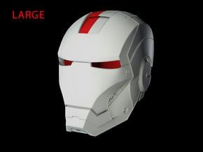 Iron Man Helmet - Head Right Side (Large) 1 of 4 in White Natural Versatile Plastic