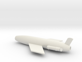 1/96 Scale SSM-N-8A Regulus I Missile in White Natural Versatile Plastic