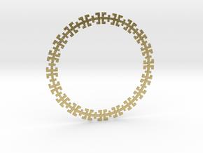Greek Pendant in Natural Brass