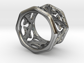 Gothic Window Ring v2 in Polished Silver: 8 / 56.75