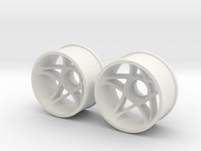 """2WD - Jantes arrière """"FIVE"""" - Ø20,5 in White Natural Versatile Plastic"""