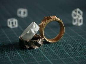 Triangulated Ring - 18mm in White Processed Versatile Plastic