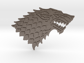 House Stark Buckle in Polished Bronzed-Silver Steel