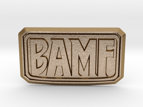 BAMF Buckle in Polished Gold Steel