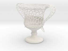 Wire Amphora in White Natural Versatile Plastic