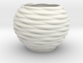 Vase Pn1633 in White Natural Versatile Plastic