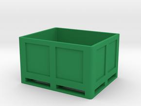 Kiste Palette Box in Green Processed Versatile Plastic