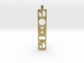 Power Pendent in Natural Brass