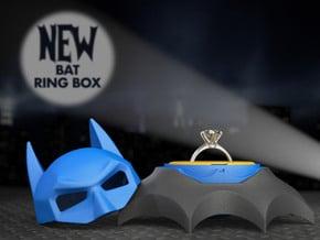 Bat Ring Box - Proposal and Engagement Ring Box in Black Natural Versatile Plastic