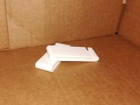 Customizable Belt Clip in White Natural Versatile Plastic