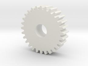 28T Idler Gear in White Natural Versatile Plastic