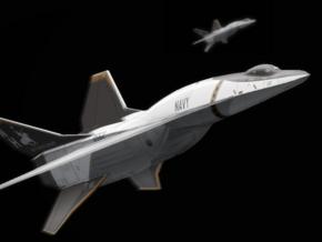 "RS-77 ""Activator"" Space Fighter in Black Natural Versatile Plastic: 6mm"
