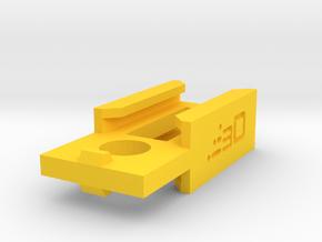Nerf Rail to Rail Adapter in Yellow Processed Versatile Plastic