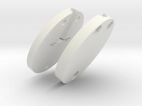 Standard Flamp Socket (Front & Back) in White Natural Versatile Plastic