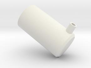 Standard Flamp Cap  in White Natural Versatile Plastic