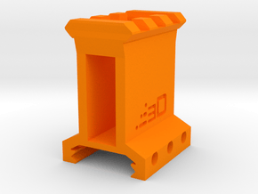 "1.5"" High 3 Slots Picatinny Riser in Orange Processed Versatile Plastic"