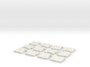 """Jigsaw """"The wall"""" (12 pieces) in White Natural Versatile Plastic"""