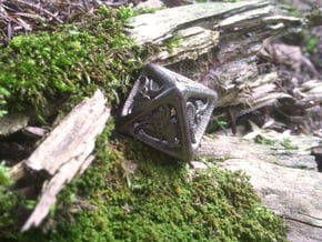 Tengwar Elvish D8 in Polished Nickel Steel