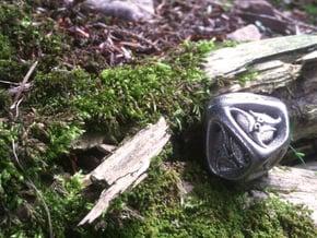Tengwar Elvish D10 (Numbered 1-10) in Polished Nickel Steel
