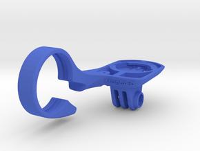 Wahoo Elemnt Bolt GoPro Handlebar Mount in Blue Processed Versatile Plastic